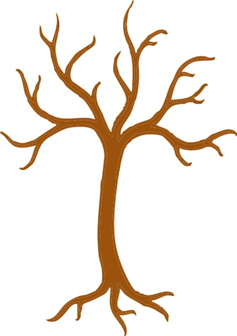 tree brown brown tree outline clip at clker vector clip