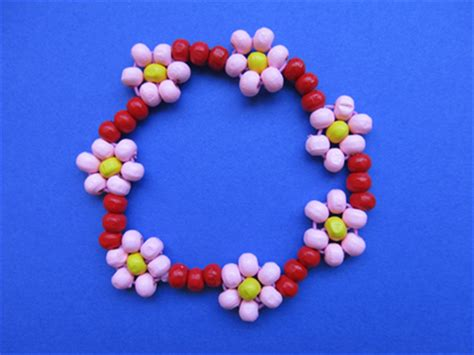 how to make a flower bead bracelet how to make a chain bracelet for beginners