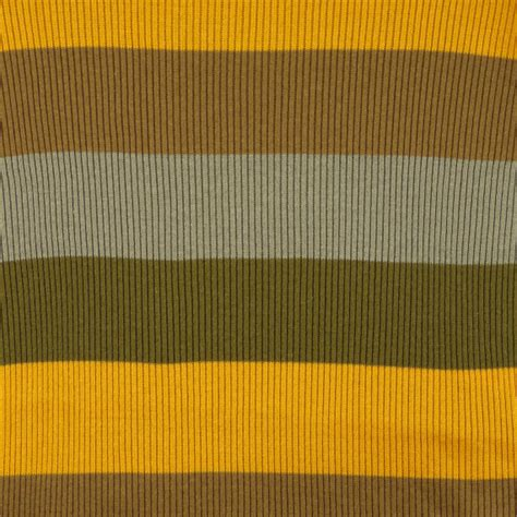 heavy cotton knit fabric brown olive marigold stripes rib knit fabric heavy weight