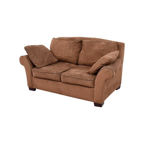 curved arm sofa 78 brown curved arm loveseat sofas