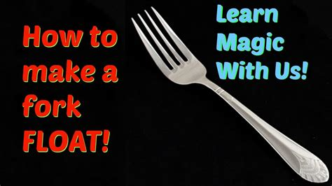 how to make a card float easy magic trick fork floating tutorial a b magic club