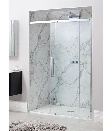 simpsons shower doors simpsons ten frame less single sliding shower door 1400mm