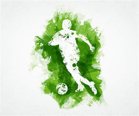 Curtain Backing by Soccer Player Digital Art By Aged Pixel