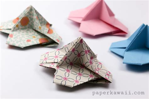 origami place card origami card holder paper kawaii