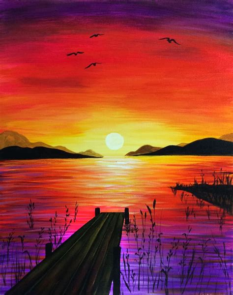 paint nite mountain view gallery easy to draw sunset drawing gallery