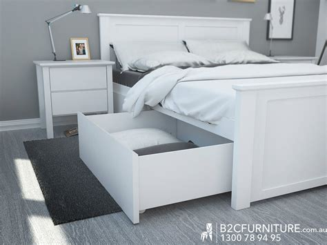 white beds for white bed frame with bed storage drawers