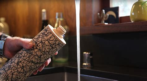 what are water made out of this new water bottle is made from wood instead of plastic