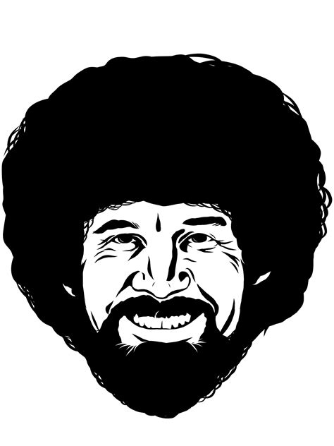 bob ross painting black and white adobe ideas draw again cass get da muneez