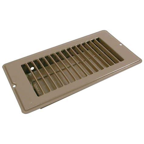 floor in speedi grille 2 in x 12 in floor vent register brown