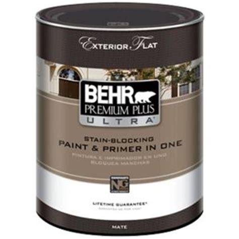home depot paint quart behr premium plus ultra 1 qt base flat exterior