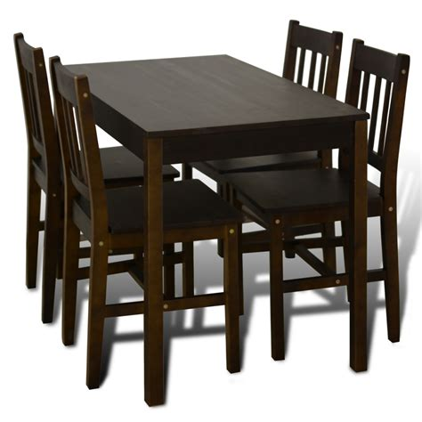 dining table with 4 chairs vidaxl co uk wooden dining table with 4 chairs brown