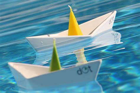 origami boat that floats floating boat candleholders by dot design milk