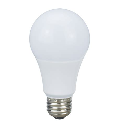led white light bulb shop utilitech pro 60 w equivalent dimmable warm white a19