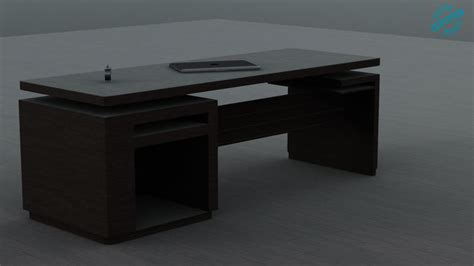 simple modern desk simple modern desk wood 3d model cgtrader