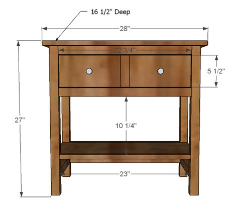 bedside table dimensions white farmhouse bedside table diy projects