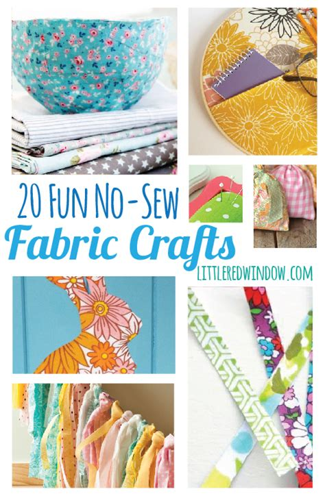 fabric crafts for 20 no sew fabric crafts window