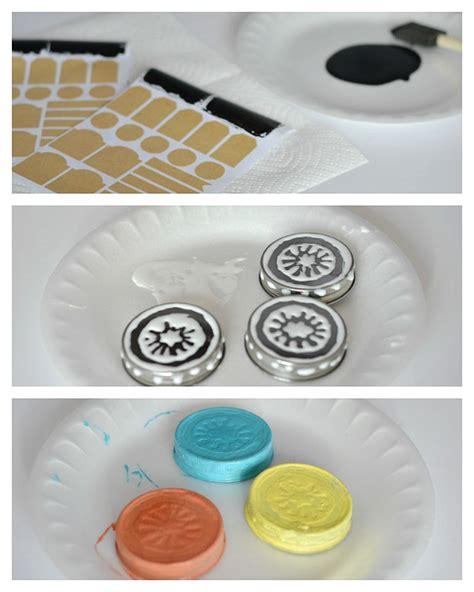 acrylic paint jar lids knockoff anthropologie spice jars forever diy