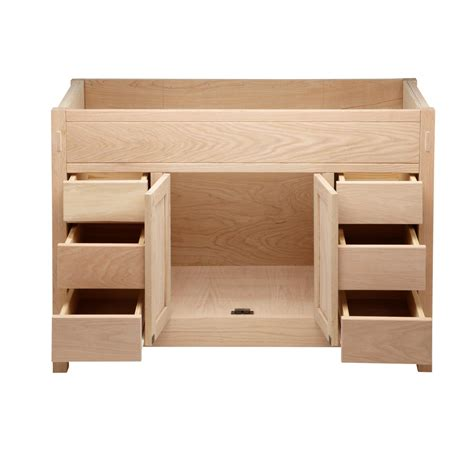 unfinished bathroom vanities 48 48 quot unfinished mission hardwood vanity for undermount sink