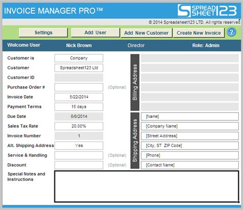 invoice manager pro ultimate invoicing software for excel