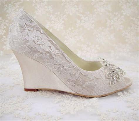 beaded wedding wedges wedding shoes peeptoe bridal shoes rhinestone wedge