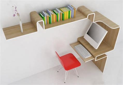 small space desk with storage space saving furniture home office desk storage idea