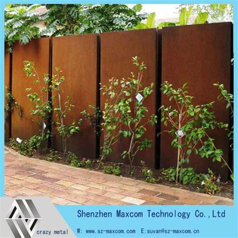 garden feature wall decorative garden wall feature corten steel screen