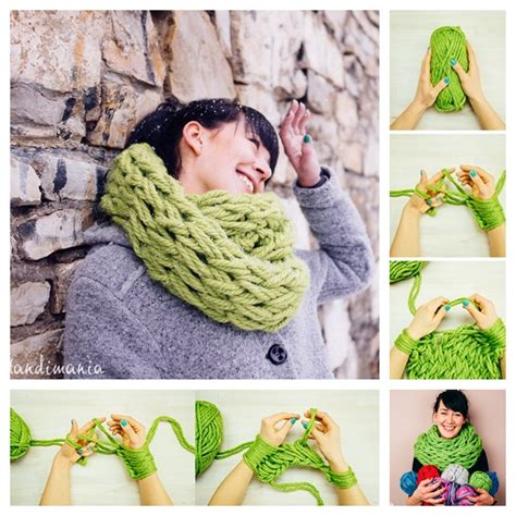 how do you knit a scarf wonderful diy arm knitted scarf in 30 minutes