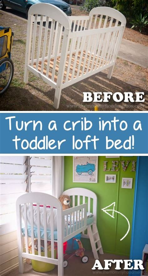 how to change a crib into a toddler bed turn a crib into a toddler loft bed pictures photos and