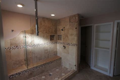 unique walk in shower in plano traditional bathroom