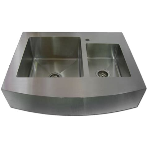 stainless steel apron front kitchen sink 36 stainless steel zero radius kitchen sink curve apron