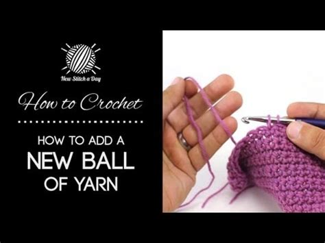 how to start a new skein of yarn when knitting crochet joining new yarn