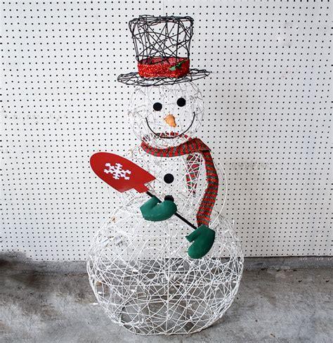 outdoor light up snowman outdoor wire frame light up snowman ebth