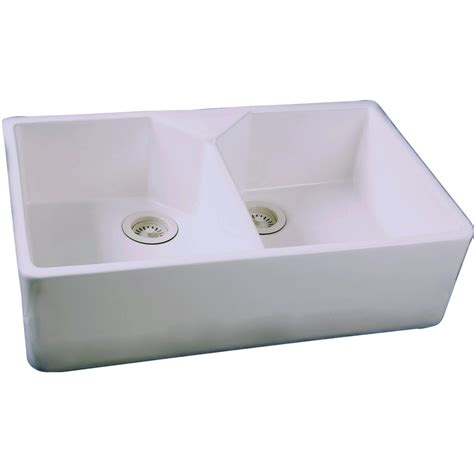 kitchen sinks lowes shop barclay white basin apron front farmhouse
