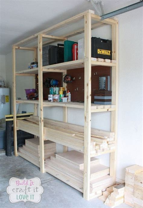 shelves for garage easy diy garage shelving hometalk