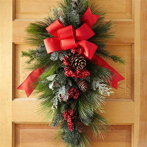 how to make a swag for front door how to make a swag wreath