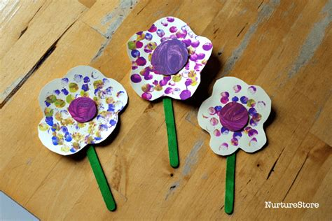 crafts for uk finger painting flower craft for toddlers nurturestore
