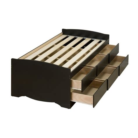 captain bunk bed with storage shop prepac furniture captain s black platform bed with