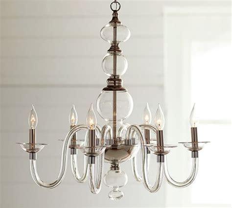 chandeliers glass blown glass chandelier pottery barn
