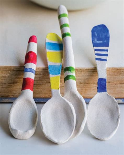 paper clay crafts paper clay spoons sweet paul magazine