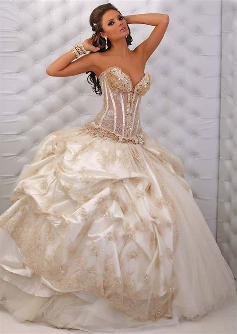 wedding dresses with gold beading sweetheart gown wedding dress with gold beading