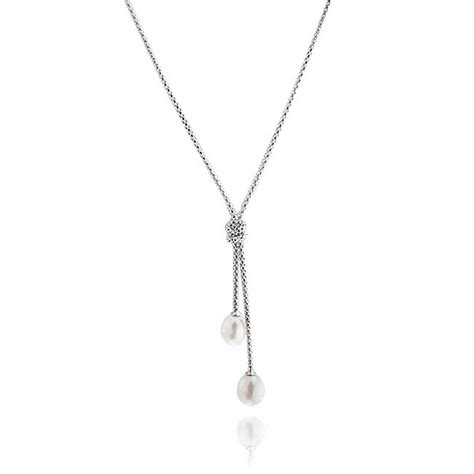 sterling silver to make jewelry sterling silver pearl knot lariat necklace
