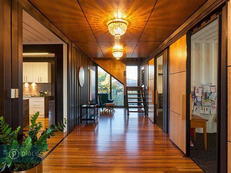 Livingroom Art hallway shipping container home in brisbane queensland