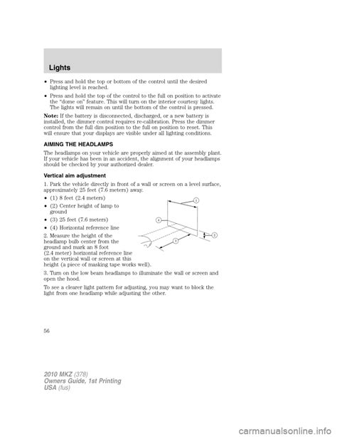 service manual free online car repair manuals download 2010 lincoln mkx instrument cluster