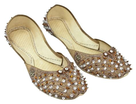 beaded khussa shoes details about indian beaded bridal wedding velvet brown
