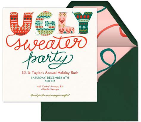 sweater invitations free sweater invitations templates free all