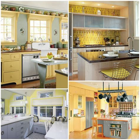 yellow and gray kitchen pink pearls becca s yellow and gray kitchen