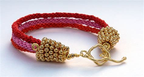 how to end a beaded bracelet gold seed bead kumihimo