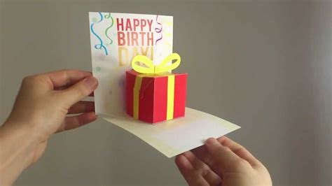 how to make pop up birthday cards for 3d pop up birthday present 0021 birthday card