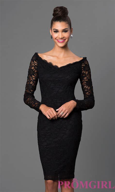 black dress lace shoulder black dress promgirl