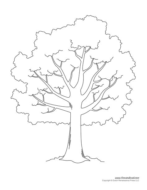 large tree template tim de vall comics printables for